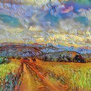 Landscape van Gogh style